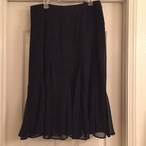 Dress Barn Black Chiffon Skirt